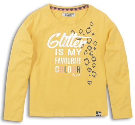 DJ-Dutchjeans dekliška majica Glitter, 110, rumena
