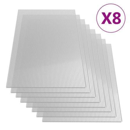 shumee Polikarbonatne plošče 8 kosov 4 mm 121x60 cm