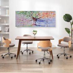 shumee Sada nástenných obrazov na plátne Dažďový strom rôznofarebná 150x60 cm