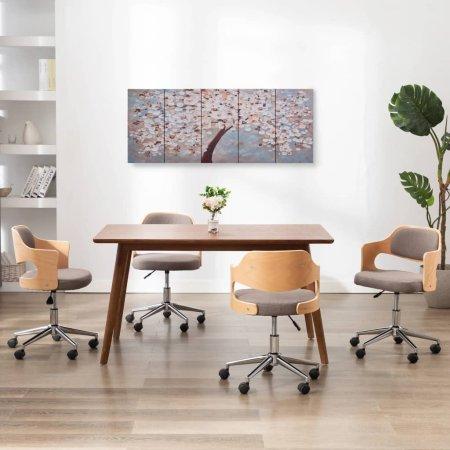 shumee többszínű virágzó fa nyomtatott vászon falikép szett 150x60 cm