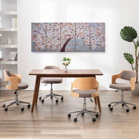 shumee többszínű virágzó fa nyomtatott vászon falikép szett 200x80 cm