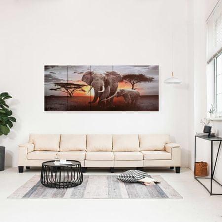 shumee Slika na platnu slon večbarvna 200x80 cm