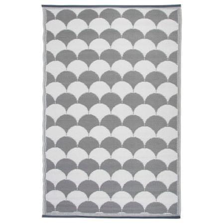 shumee Esschert Design szürke és fehér kültéri szőnyeg 180 x 121 cm OC24