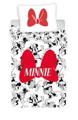 Jerry Fabrics Obliečky Minnie červená mašľa