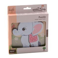 Jouéco the Wildies Family drevené mini puzzle Elephant 12m+