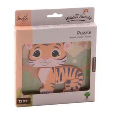 Jouéco the Wildies Family drevené mini puzzle Tiger 12m+