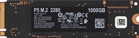 Crucial P5 SSD disk, 1 TB, M.2 80 mm PCI-e 3.0 x4 NVMe, 3D TLC