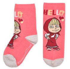 Eplusm Dievčenské vysoké ponožky Máša a Medveď - ružová