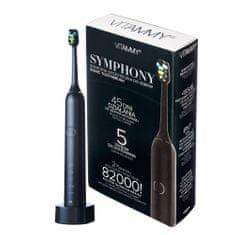 Vitammy SYMPHONY Black Sonický zubní kartáček s vysokou vibrační silou, černá