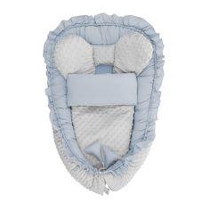 BELISIMA Hnízdečko s peřinkou pro miminko Minky Belisima Mouse modré