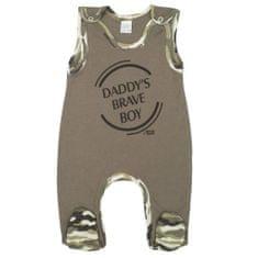 NEW BABY Kojenecké dupačky New Baby Army boy Barva: Zelená, Velikost: 56 (0-3m)
