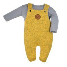 KOALA 2-dílná kojenecká souprava Koala Koala melírovaná žlutá Barva: Žlutá, Velikost: 68 (4-6m)