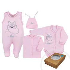 KOALA 4-dílná kojenecká souprava Koala Fox Love růžová Barva: Růžová, Velikost: 50