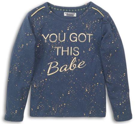 DJ-Dutchjeans Lány póló arany foltokkal, 110, kék