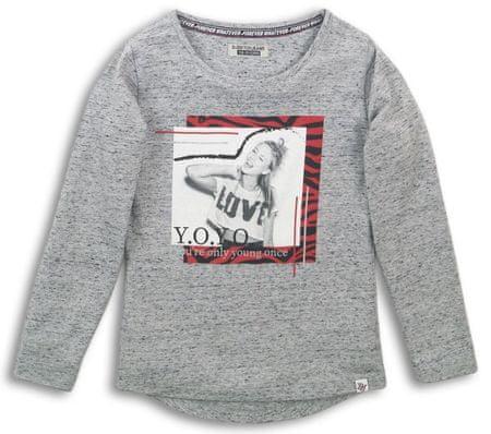 DJ-Dutchjeans dekliška majica Y.O.Y.O. 134, siva
