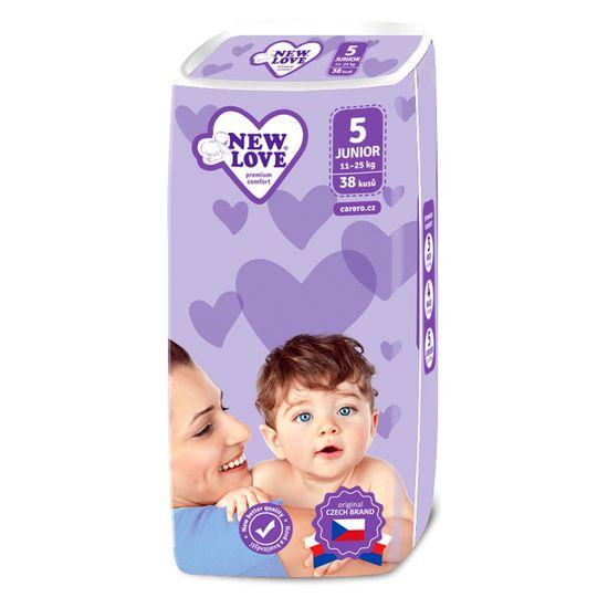 New Love Dětské jednorázové pleny New Love Premium comfort 5 JUNIOR 11-25 kg 38 ks