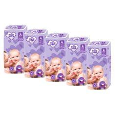 New Love MEGAPACK Dětské jednorázové pleny New Love Premium comfort 4 MAXI 7-18 kg 5x44 ks