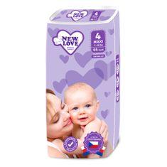 New Love Dětské jednorázové pleny New Love Premium comfort 4 MAXI 7-18 kg 44 ks