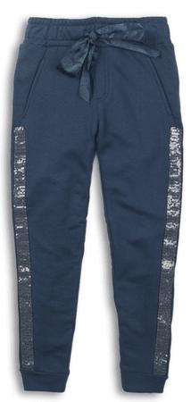 DJ-Dutchjeans spodnie dresowe dziewczęce z cekinami 116 niebieskie