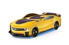 Futuka Kids Postel auto UNO Kamaro, 3D, LED světla, Spodní světlo, Spojler