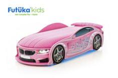 """Futuka Kids Postýlka auto UNO F-BMW, """"F-Alcantara"""", LED světla, Spodní světlo, Spojler"""