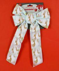 DUE ESSE Božićna bijela vrpca sa zlatnim uzorkom 1, 36 cm