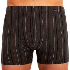 Andrie Pánske boxerky tmavo šedé, hnedé pruhy (PS 5253 C)