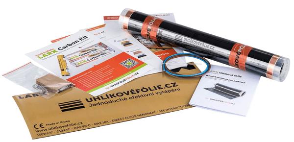 Vykurovacia podlahová uhlíková fólia LARX Carbon Kit eco jednoduchá inštalácia, inštalácia doma, pod nelepenú, skladanú podlahu
