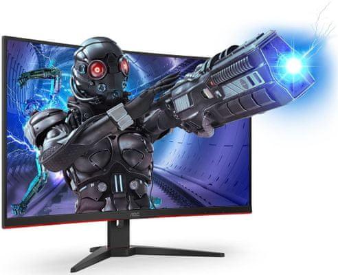 Monitor gamingowy AOC C32G2ZE (C32G2ZE/BK) 1 ms czas odpowiedzi