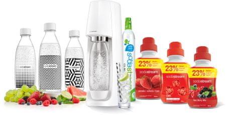 SodaStream SPIRIT WHITE SUMMER PACK