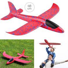 iMex Toys Pěnové Házecí Letadlo 48 cm červené 1:10