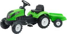 Falk traktor Garden Master sa zelenom prikolicom