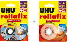 UHU Rollafix nevidljiva ljepljiva traka s držačem, 25 m + 5 m, 1 + 1 gratis