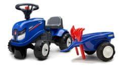 Falk Traktor Iseki s volanom i prikolicom, plavi