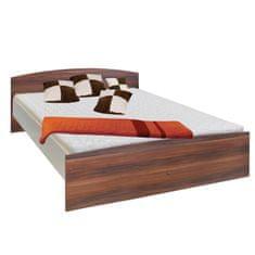 IDEA nábytek nábytek Dvoulůžko 60342 ořech/bílá