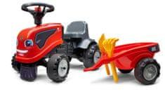 Falk Same Dorado crveni traktor izbacivač s volanom i prikolicom