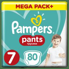 Pampers plenice Pants 7 (17+ kg) 80 kosov (2x40 kosov)
