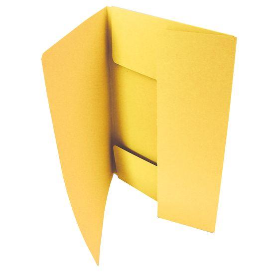 Hit office Mapa odkládací se 3 klopami žlutá