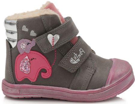 Ponte 20 PV120-DA03-1-819A bőrből készült lány cipő, 27, szürke