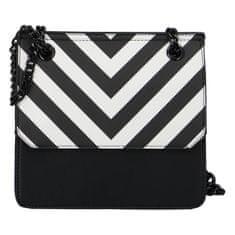 DIANA & CO Moderní dámská koženková kabelka Happy Stripes, černá