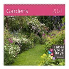 Kalendář 2021 nástěnný: Gardens, 300x300