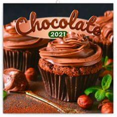 Kalendář 2021 poznámkový: Čokoláda, voňavý, 30 × 30 cm
