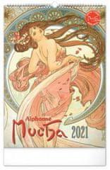 Kalendář 2021 nástěnný: Alfons Mucha, 33 × 46 cm