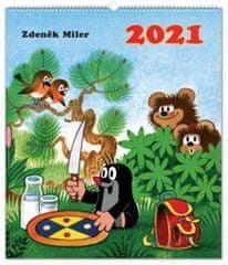 Kalendář 2021 nástěnný: Krteček, 48 × 56 cm