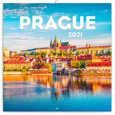 Kalendář 2021 poznámkový: Praha letní, 30 × 30 cm