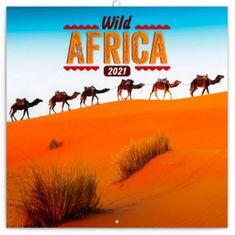 Kalendář 2021 poznámkový: Divoká Afrika, 30 × 30 cm