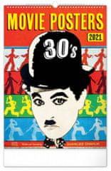 Kalendář 2021 nástěnný: Retro plakáty, 33 × 46 cm