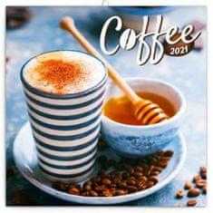 Kalendář 2021 poznámkový: Káva, voňavý, 30 × 30 cm