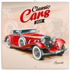 Kalendář 2021 poznámkový: Classic Cars – Václav Zapadlík,, 30 × 30 cm