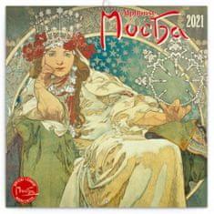 Kalendář 2021 poznámkový: Alfons Mucha, 30 × 30 cm
